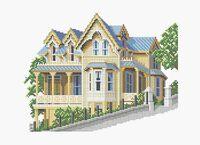 Дом А3-0341 схема для вышивки бисером