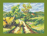 Дорога в село схема для вышивки бисером на ткани А4-0185