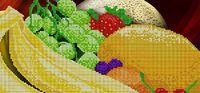 Фруктовый десерт, АКЗ-027 схема-рисунок на атласе для частичной вышивки бисером №10