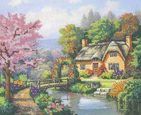 Гостинный дом, DANA-268 схема-рисунок полноцветная на габардине для вышивания бисером(нитками)