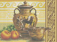 Греческие вазы А3-0246 схема для вышивки бисером