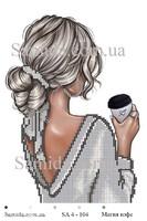 Магия кофе схема для вышивки бисером SA 4 - 104