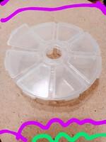 Органайзер круг, пластик прозрачный на 8 ячеек для бисера