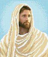 Иисус схема для вышивки бисером на ткани А4-4152