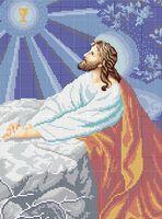 Иисус на оливковой горе схема для вышивки бисером на ткани А3-069