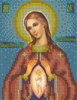 Икона Божией Матери в родах  Помощница БКР-5102 схема для вышивания бисером на габардине