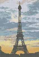 Эйфелевая башня схема для вышивки бисером на ткани А3-0221