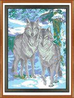 Канва с рисунком РТ 020 вышивка крестиком Волки