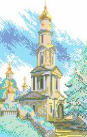 Канва с рисунком РТ 065 вышивка крестиком Церковь