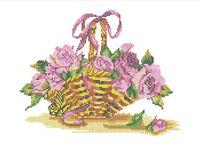 Корзина цветов А3-0331 схема для вышивки бисером