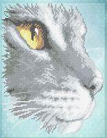 Кот схема для вышивки бисером на ткани А4-0465