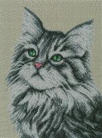 Кот Васька А3-35 схема-рисунок на габардине для вышивки бисером формат А-3