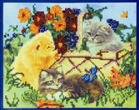 Котята АВ-034 набор для вышивки бисером на холсте
