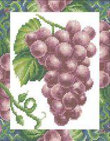 Красный виноград А4-0111 cхема для вышивки бисером