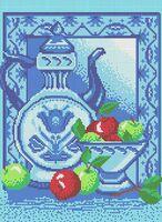 Кухонный натюрморт схема для вышивки бисером на ткани А3-0248