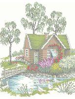 Летний пейзаж А4-0298 схема с рисунком для вышивания бисером
