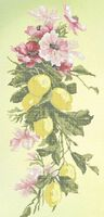 Лимонная фантазия, ЗПК-008 рисунок-схема для частичной вышивки бисером на атласе