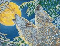 Песня волка, МИКаА-339 схема-рисунок на габардине для вышивки бисером формат А-3