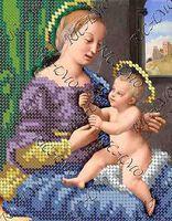 Мадонна с младенцем БКР-5189 схема с рисунком для частичной вышивки бисером на ткани