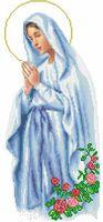 Мария непорочного зачатия схема на атласе для вышивки бисером ТО-038