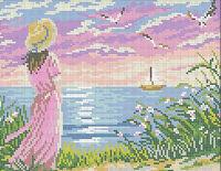 Мечта А4-0121 схема с рисунком на габардине для полной вышивки бисером