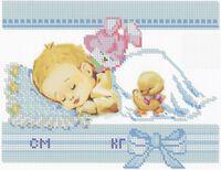 Метрика для мальчика, ЮМА-415 схема-рисунок на атласе для вышивания бисером