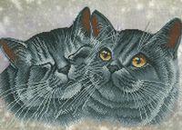 Милые котики SA 3-60 схема для вышивки бисером