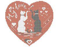 Моя любовь схема для вышивки бисером на ткани А3-0261