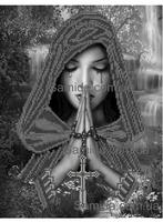 Молящаяся SA 3-39 схема с рисунком для вышивки бисером