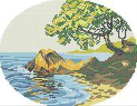 Море схема для вышивки бисером на ткани А4-0220