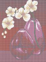 Натюрморт цветы схема для вышивки бисером на ткани А3-0520