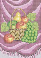 Натюрморт фрукты А3-0491 cхема для вышивки бисером