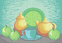 Натюрморт схема для вышивки бисером на ткани А3-0383