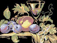 Натюрморт фрукты схема для вышивки бисером на ткани А4-0441