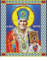 Святой Николай Чудотворец схема для вышивки бисером SAИ 5-6