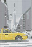 Нью-Йорк схема для вышивки бисером на ткани А3-0259