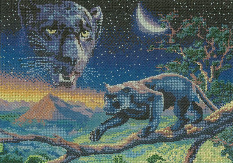 Картинки пантеры для вышивки