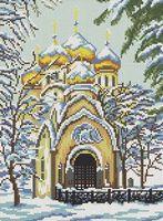 Новодевичий монастырь, СКВ-21 схема-рисунок на атласе для вышивки бисером