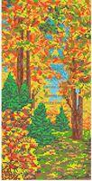 Природа. Осень схема для вышивания бисером SA 3-63