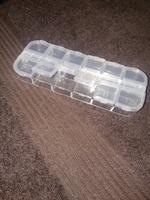Органайзер прямоугольный, пластик прозрачный на 12 ячеек для бисера
