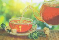 Освежающий чай, DANA-279 схема-рисунок полноцветная на габардине для вышивания бисером(нитками)