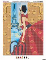 Парижанка А4-020 схема с рисунком на габардине для частичной вышивки бисером