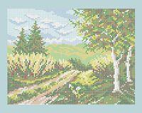 Пейзаж А4-0307 cхема для вышивки бисером