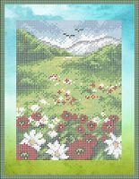 Пейзаж А4-0443 cхема для вышивки бисером