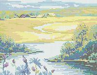Пейзаж схема для вышивки бисером на ткани А4-0455