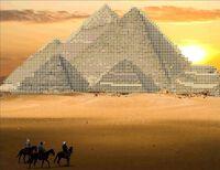 Пирамиды Египта А4-0388 cхема для вышивки бисером