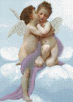 Поцелуй ангела схема для вышивки бисером на ткани А3-0585