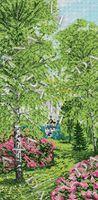 Пора года. Весна, DANA-5106 схема-рисунок на габардине для вышивки бисером формат картины А-3