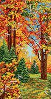 Пора года.Осень, DANA-5108 схема-рисунок на габардине для вышивки бисером полная зашивка схемы