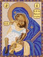 Пресвятая Богородица Взыграние младенца схема вышивки бисером РИП-012